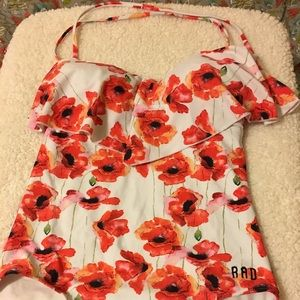 Poppy RAD swimsuit Strapless with ruffles S